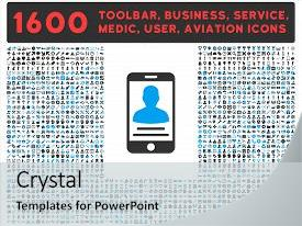 Employee service award powerpoint templates crystalgraphics crystal powerpoint template with 1600 other business service themed background and a light gray colored foreground toneelgroepblik Choice Image