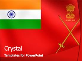 Indian army powerpoint templates crystalgraphics crystal powerpoint template with 3d flag of indian army themed background and a crimson colored foreground toneelgroepblik Images