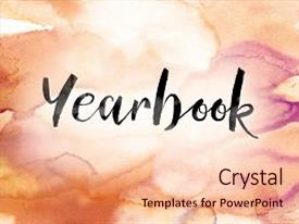 <b>Crystal</b> PowerPoint template with a colorful watercolor wash themed background and a lemonade colored foreground design featuring a [design description].