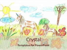 Unicorn powerpoint templates crystalgraphics i love this presentation with a fairy tale background and a lemonade colored pronofoot35fo Image collections