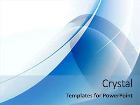 <b>Crystal</b> PowerPoint template with abstract blue background texture themed background and a light blue colored foreground design featuring a [design description].