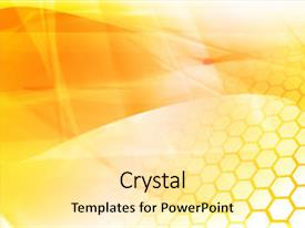 <b>Crystal</b> PowerPoint template with abstract cool waves background texture themed background and a blonde colored foreground design featuring a [design description].