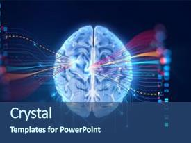 Futuristic powerpoint templates crystalgraphics theme having abstract infographic with visual background and a ocean colored foreground toneelgroepblik Images