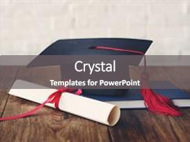 Higher education powerpoint templates crystalgraphics crystal powerpoint template with academic college degree education insight themed background and a gray colored foreground toneelgroepblik Image collections