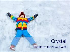 PPT layouts featuring active outdoors leisure with children background and a sky blue colored foreground.
