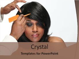 African american powerpoint templates crystalgraphics slide set with hair style african american woman having her background and a coral colored toneelgroepblik Choice Image