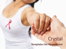 <b>Crystal</b> PowerPoint template with aids cause or breast cancer themed background and a lemonade colored foreground design featuring a [design description].