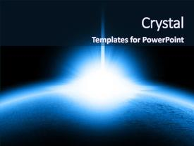 Outer space powerpoint templates crystalgraphics cool new ppt theme with alien planet in outer space backdrop and a navy blue colored toneelgroepblik
