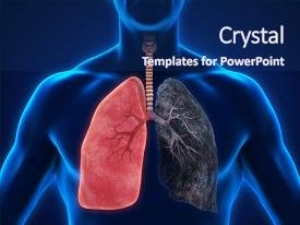 5000 lung powerpoint templates w lung themed backgrounds ppt theme having alveoli healthy lung and smokers lung background and a navy blue colored toneelgroepblik Gallery