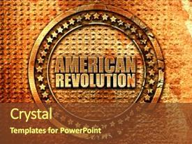 American revolution powerpoint templates crystalgraphics template enhanced with american revolution 3d rendering metal theme and a tawny brown colored foreground toneelgroepblik Images