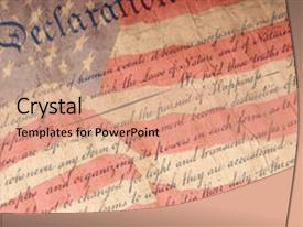American revolution powerpoint templates crystalgraphics slide set enhanced with american revolution close up of declaration theme and a coral colored toneelgroepblik Images