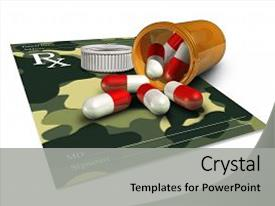 Army medicine powerpoint templates crystalgraphics ppt enhanced with military medicine icon for pharmaceutical theme and a light gray colored foreground toneelgroepblik Gallery