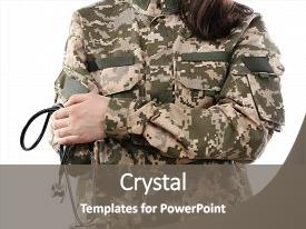 Army medicine powerpoint templates crystalgraphics beautiful ppt featuring navy medical army doctor holding stethoscope isolated image and a gray colored toneelgroepblik Gallery
