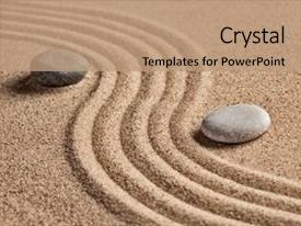 Powerpoint template life words on smooth stones on little brown beautiful ppt theme featuring art japanese zen stone garden backdrop and a coral colored foreground custom template toneelgroepblik Gallery