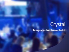 powerpoint template: award with moving particles (12035), Presentation templates