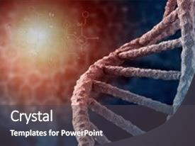 Presentation with dna - background concept with high tech background and a dark gray colored foreground