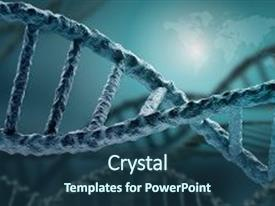 Slide deck consisting of dna - background concept with high tech background and a ocean colored foreground