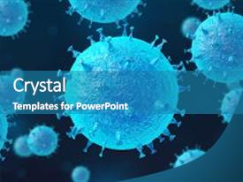Bacteria powerpoint templates crystalgraphics cool new ppt theme with cells high resolution science backdrop and a teal toneelgroepblik Image collections