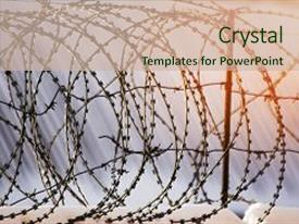 Salvation army powerpoint templates crystalgraphics presentation enhanced with salvation army barbed wire fence prison concept theme and a soft green toneelgroepblik Image collections