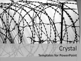 Salvation army powerpoint templates crystalgraphics theme enhanced with salvation army barbed wire fence prison concept theme and a light gray toneelgroepblik Image collections