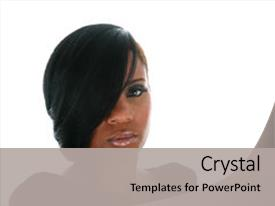 African american powerpoint templates crystalgraphics slide set having beautiful adult woman backdrop and a light gray colored foreground toneelgroepblik Choice Image