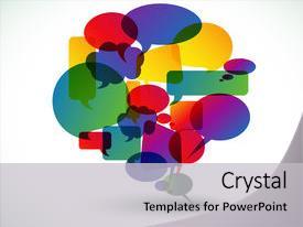 speech bubble powerpoint templates | crystalgraphics, Powerpoint templates