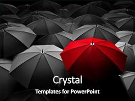 Umbrella powerpoint templates crystalgraphics crystal powerpoint template with black and white umbrellas business themed background and a black colored foreground toneelgroepblik Choice Image