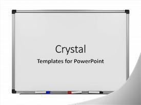 Whiteboard powerpoint templates crystalgraphics ppt enhanced with noticeboard blank whiteboard isolated on white theme and a white colored foreground toneelgroepblik Choice Image