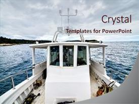 Boat powerpoint templates crystalgraphics ppt enhanced with ing is sailing the ocean theme toneelgroepblik Images