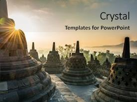 Java powerpoint templates crystalgraphics amazing ppt theme having borobudur buddhist temple java backdrop and a mint green colored foreground toneelgroepblik Gallery