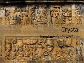 Java culture powerpoint templates crystalgraphics crystal powerpoint template with borobudur temple in yogyakarta java themed background and a coral colored foreground toneelgroepblik Gallery
