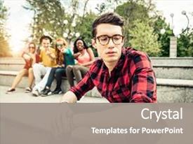 Bully powerpoint templates crystalgraphics crystal powerpoint template with bully boy being bullied in school themed background and a gray toneelgroepblik Choice Image