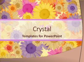 <b>Crystal</b> PowerPoint template with bright and merry greeting card themed background and a lemonade colored foreground design featuring a [design description].
