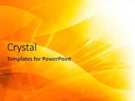 <b>Crystal</b> PowerPoint template with bright idea - abstract galaxy - perfect background themed background and a gold colored foreground design featuring a [design description].