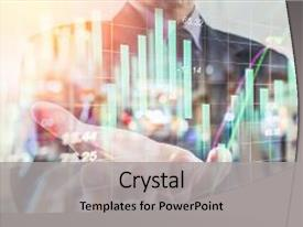 <b>Crystal</b> PowerPoint template with business man business put his themed background and a light gray colored foreground design featuring a [design description].