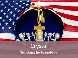 American idol powerpoint templates crystalgraphics slide set with business man idol 3d illustration background and a gray colored foreground toneelgroepblik Image collections