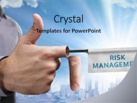 <b>Crystal</b> PowerPoint template with business technology internet and network themed background and a light blue colored foreground design featuring a [design description].