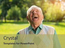 Elderly powerpoint templates crystalgraphics crystal powerpoint template with elderly can t restrain the laughter themed background and a yellow toneelgroepblik Image collections