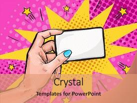 Business invitation powerpoint templates crystalgraphics crystal powerpoint template with business invitation card in pop art themed background and a coral toneelgroepblik Choice Image