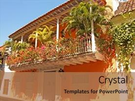Colonial powerpoint templates crystalgraphics crystal powerpoint template with caribe detail of a colonial themed background and a coral colored toneelgroepblik Gallery