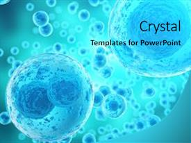 Biotechnology powerpoint templates crystalgraphics presentation design enhanced with cell background life and biology background and a cyan colored foreground toneelgroepblik Images