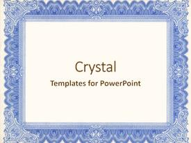 certificate border powerpoint templates | crystalgraphics, Modern powerpoint