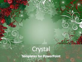 Colorful PPT theme enhanced with christmas background or greeting card backdrop and a gray colored foreground.