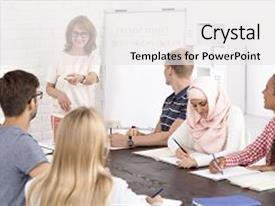 Multicultural education powerpoint templates crystalgraphics audience pleasing presentation enhanced with class and positive mature teacher theme and toneelgroepblik Images
