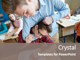 School violence powerpoint templates crystalgraphics audience pleasing presentation enhanced with classmates education bullying violence aggression theme and a gray colored toneelgroepblik Gallery