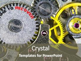 Beautiful PPT layouts featuring clockwork old mechanical high resolution backdrop and a gray colored foreground.