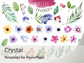 floral powerpoint templates | crystalgraphics, Modern powerpoint