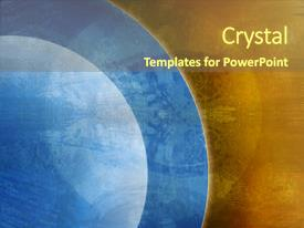 <b>Crystal</b> PowerPoint template with computer designed grunge background themed background and a tawny brown colored foreground design featuring a [design description].