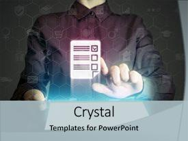 Questionnaire powerpoint templates crystalgraphics slide set enhanced with concept of online testing s background and a light toneelgroepblik Gallery