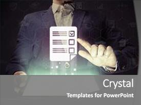 Questionnaire powerpoint templates crystalgraphics beautiful slide deck featuring concept of online testing questionnaires backdrop and a gray colored foreground toneelgroepblik Gallery